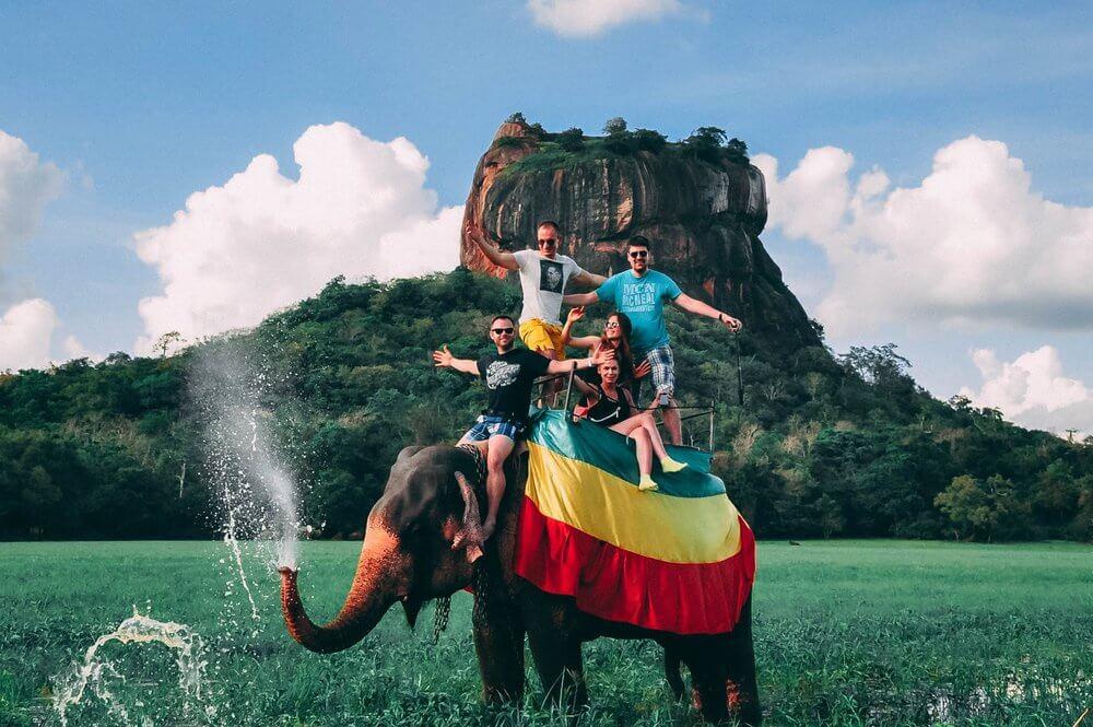 Jazda na słoniu Sri Lanka