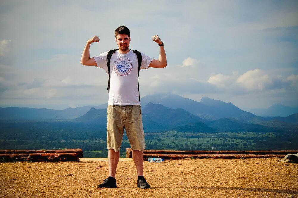 Artur na górze Sigirya na Sri Lance