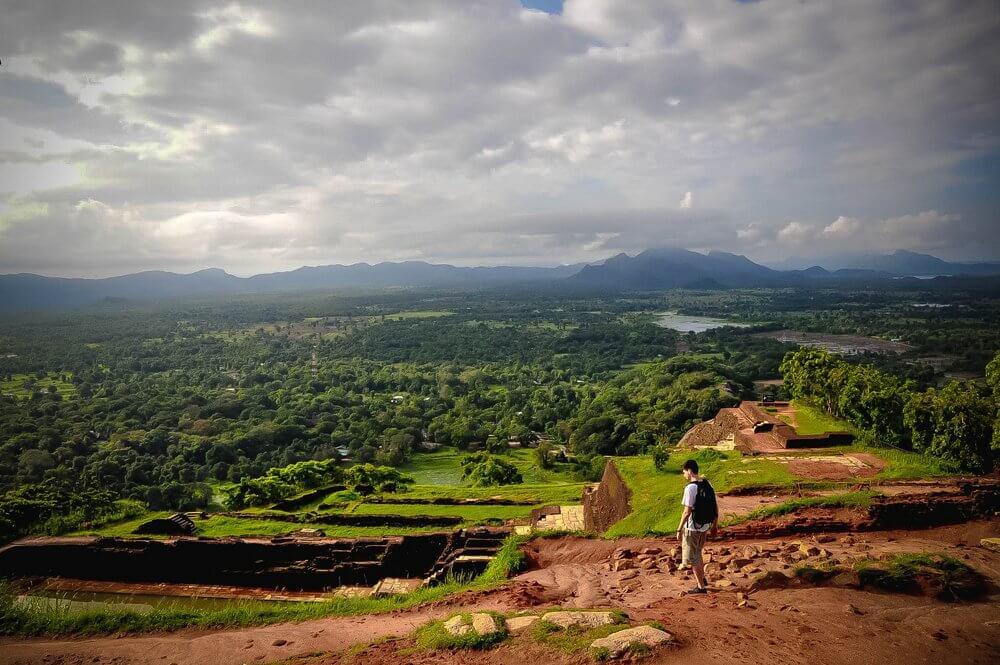 Widok z góry Sigirya