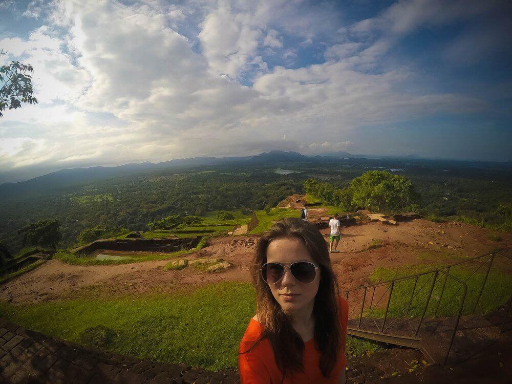 Bober na górze Sigirya- Sri Lanka