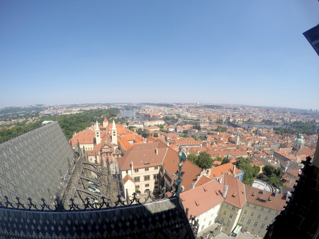 Archikatedra Św. Wita - widok na Pragę