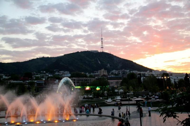 Tańczące fontanny- Tibilisi- Gruzja