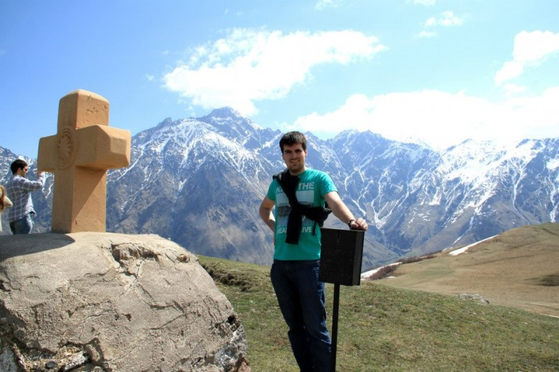 kazbegii widok na góry