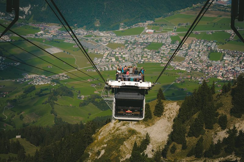 cabrio cable car na Stanserhorn