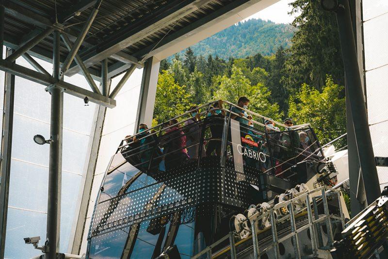 kolejka cabrio cable car w Szwajcarii