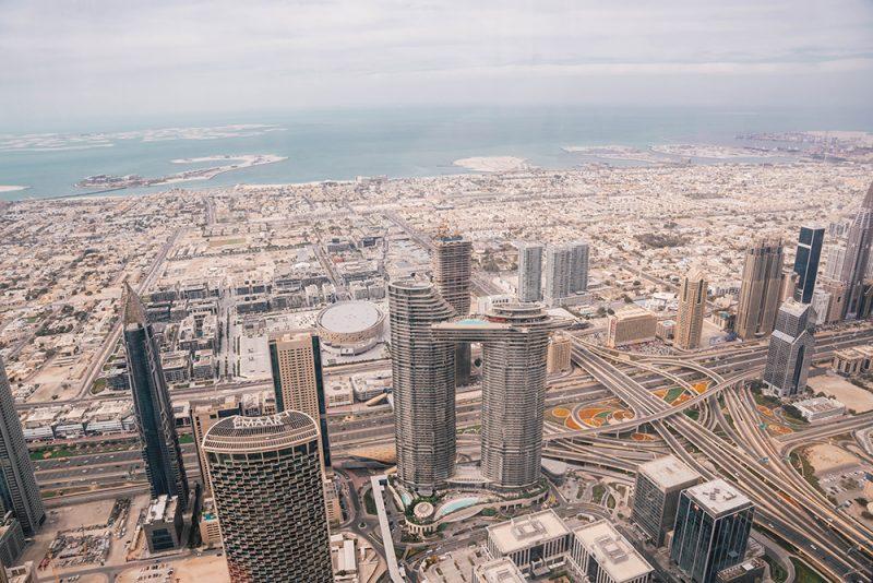 Burj Khalifa - widok z 124 piętra
