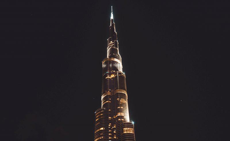 Burj Khalifa nocą