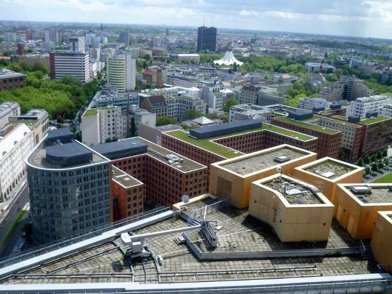 Berlin z góry Placu Poczdamskiego