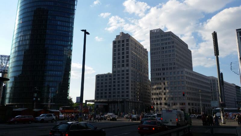 Wieżowce na Potsdammerplatz