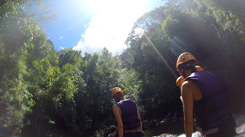 Wycieczka po wodospadach - canyoning - wietnam