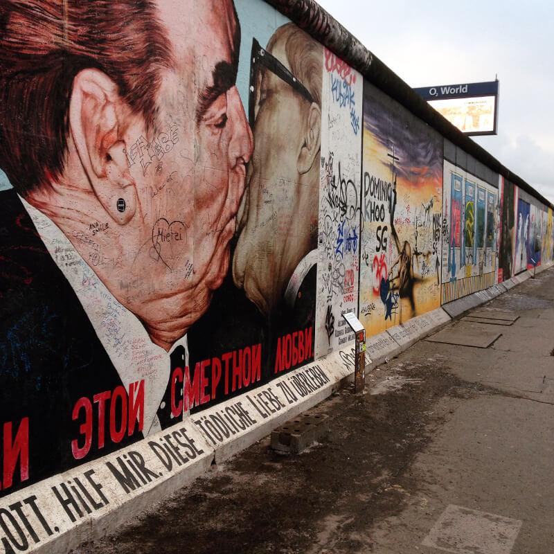 Galeria east side - malowidła na murze
