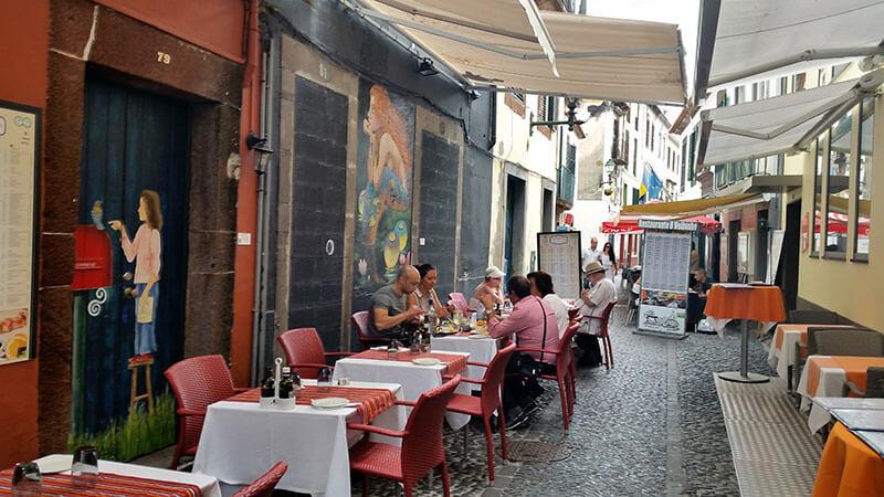 Madera - Funchal Rua de santa maria - knajpa