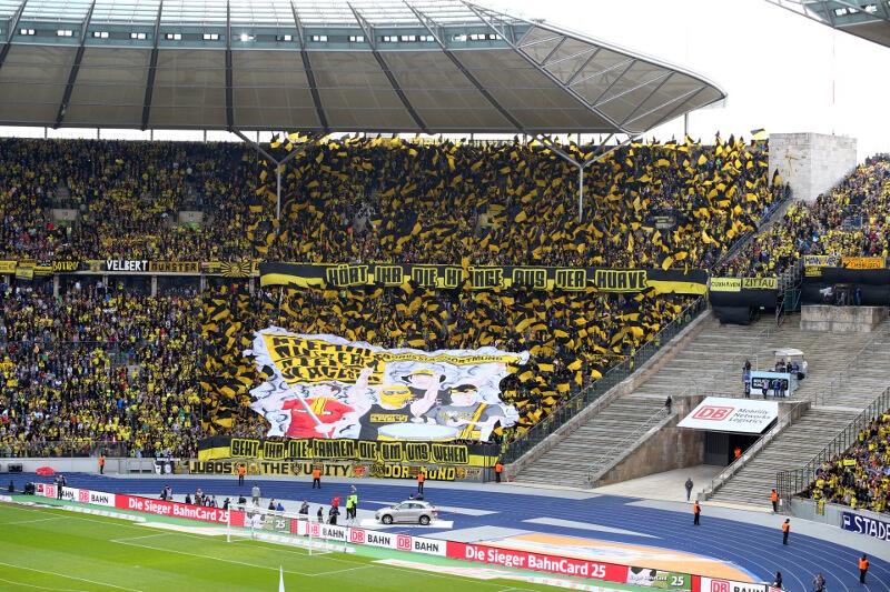 Kibice Dortmundu w Berlinie