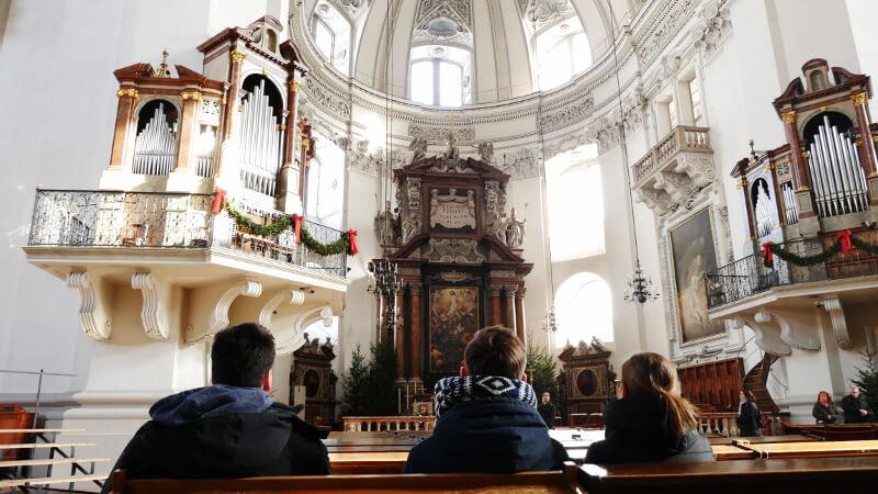 Salzburger Dom - ołtarz - Zwiedzanie Salzburga