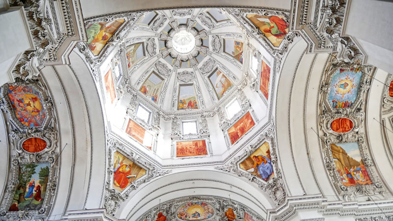 Salzburger Dom - sklepienie