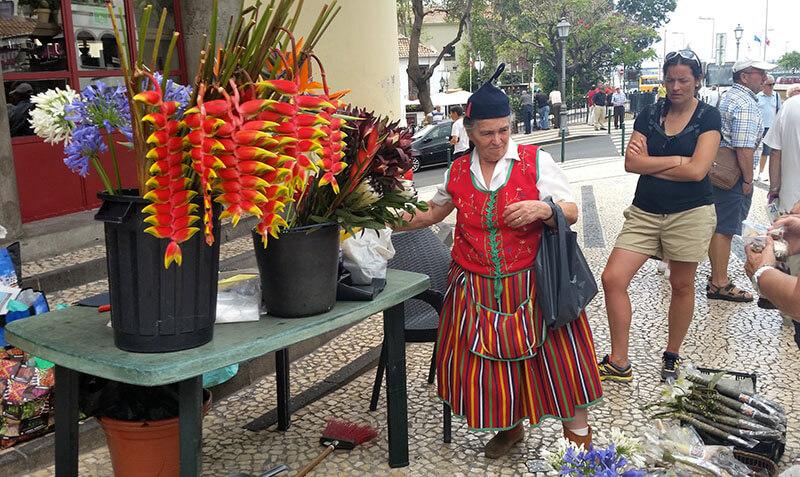 Madera - funchal - lokalna sprzedawczyni
