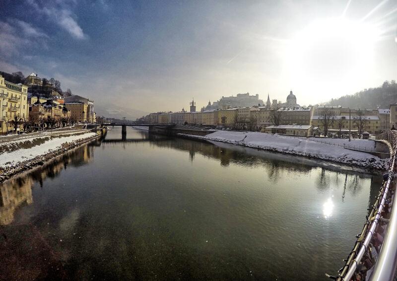 Widok na Salzburg - zwiedzanie Salzburga