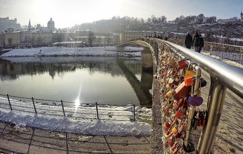 Most z kłódkami - wycieczka Salzburg
