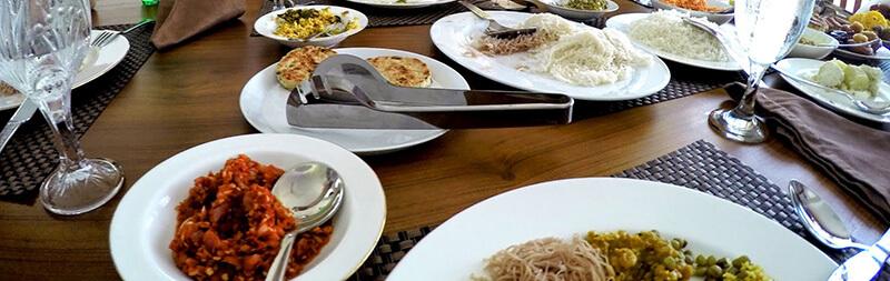Tradycyjne śniadanie Sri Lanka