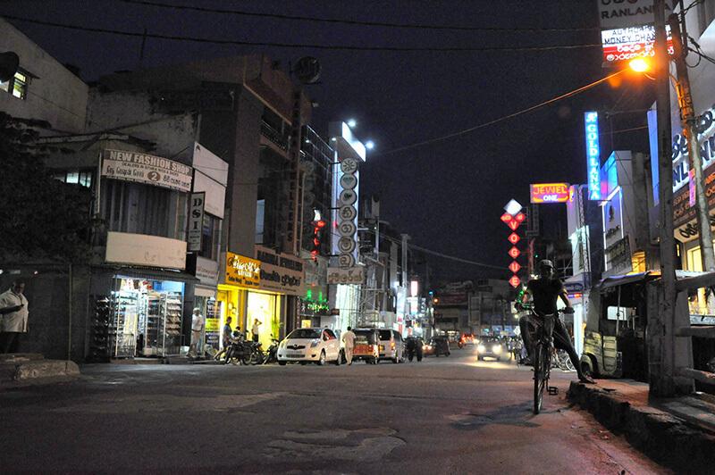 Negombo nocą - Sri Lanka