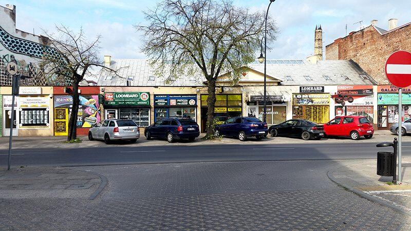 Płock ulica z lombardami