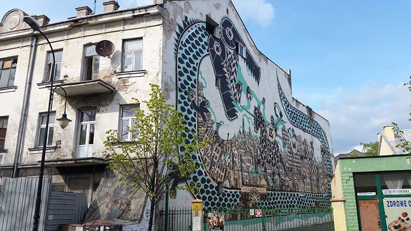 Płock - mural na budynku