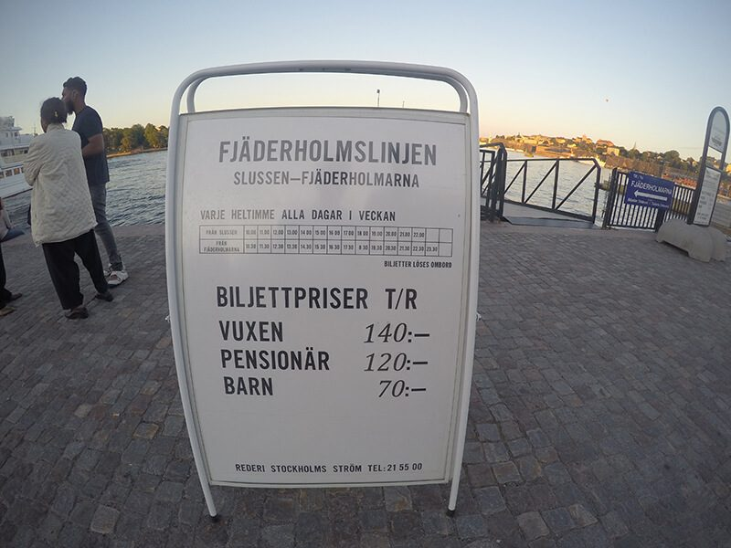 cennik rejsów po Stockholmie