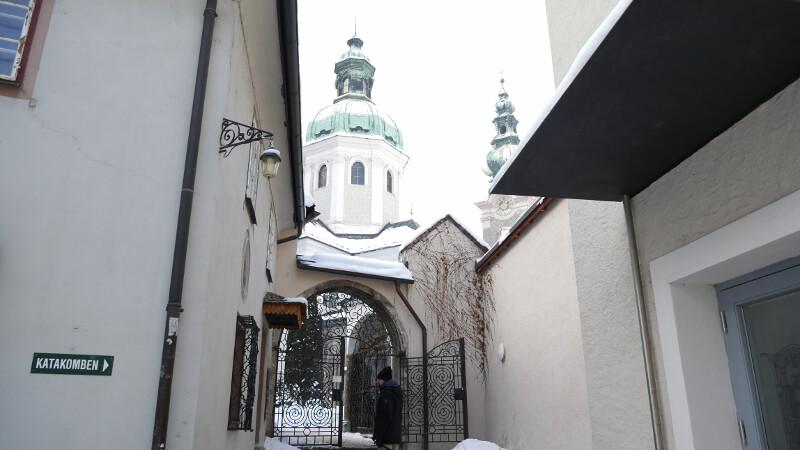 Cmentarz w mieście wejscie - Wycieczka Salzburg