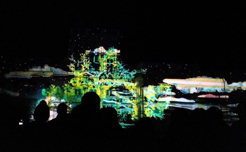 Pałac Wilanów - pokaz świateł