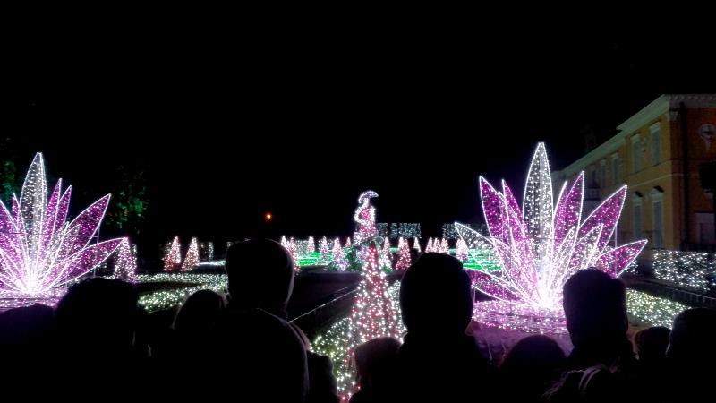 Pokaz świateł do muzyki klasycznej - Park Wilanów - Warszawa