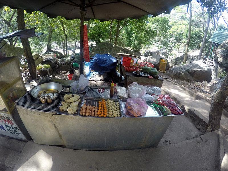 Wodospad Pongour - Wietnam smakołyki