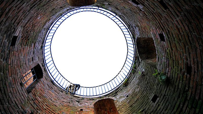 Wierza na ruinach zamku w Czersku