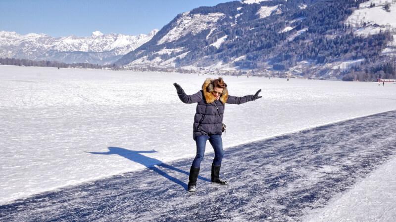 Zeller See - lodowisko