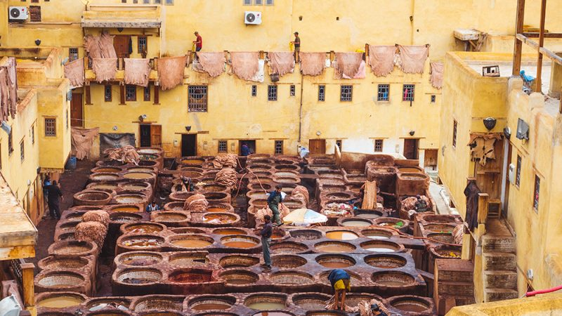 farbiarnia skór Maroko