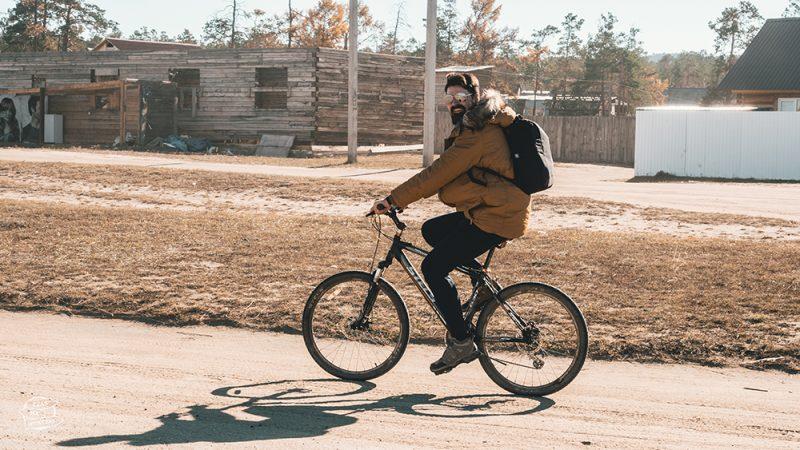 jazda rowerem po wyspie olchon - bajkał atrakcje