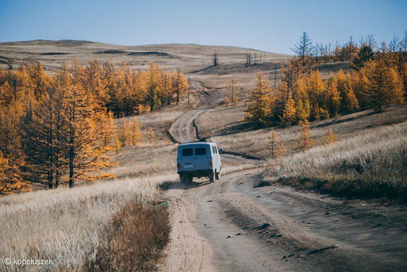 transport na wyspie Olchon na Bajkale