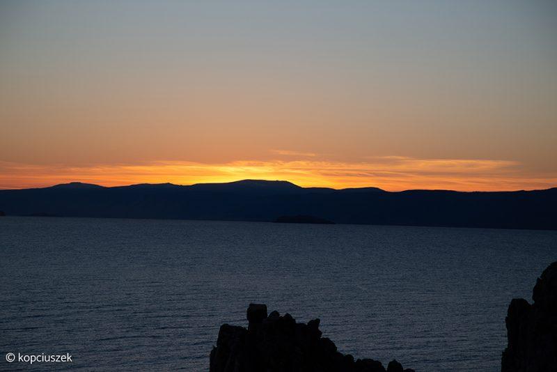 olchon zachód słońca