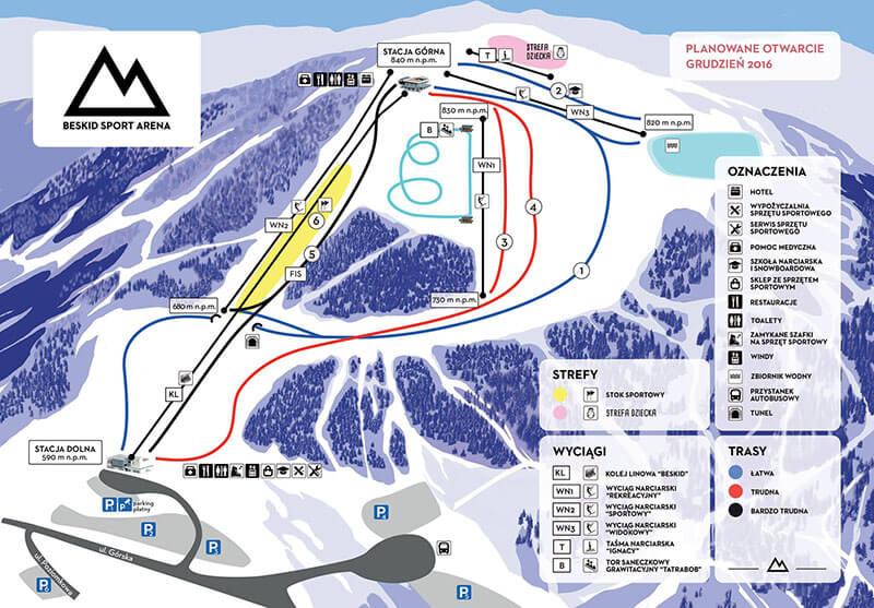 Beskid Sport Arena - trasy narciarskie