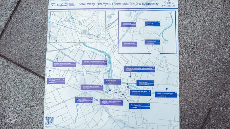 mapa turystyczna Bydgoszczy