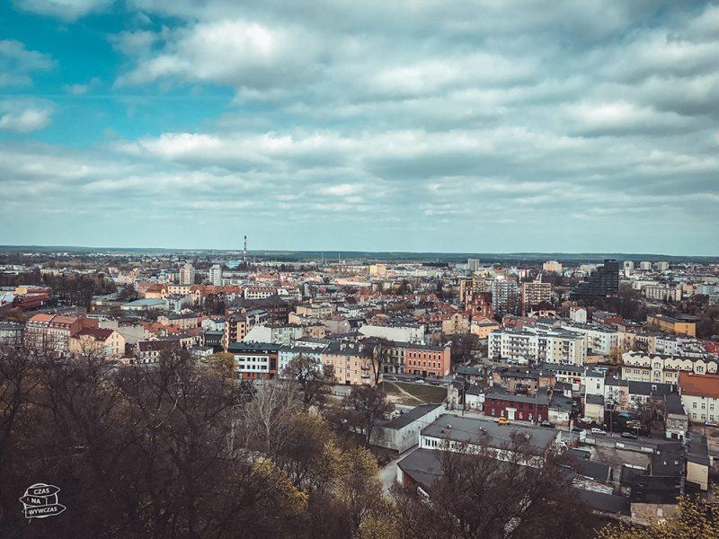 widok z wieży ciśnień w Bydgoszczy