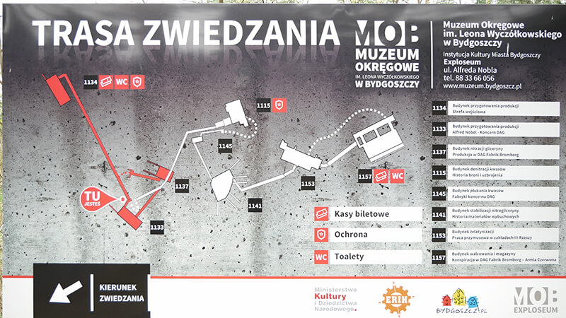 Mapa zwiedzania Exploseum