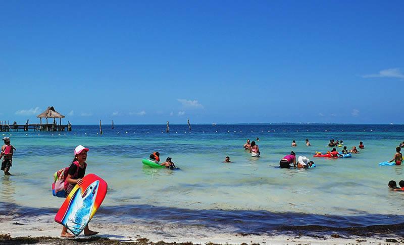 Lokalna plaża w Meksyku - Cancun