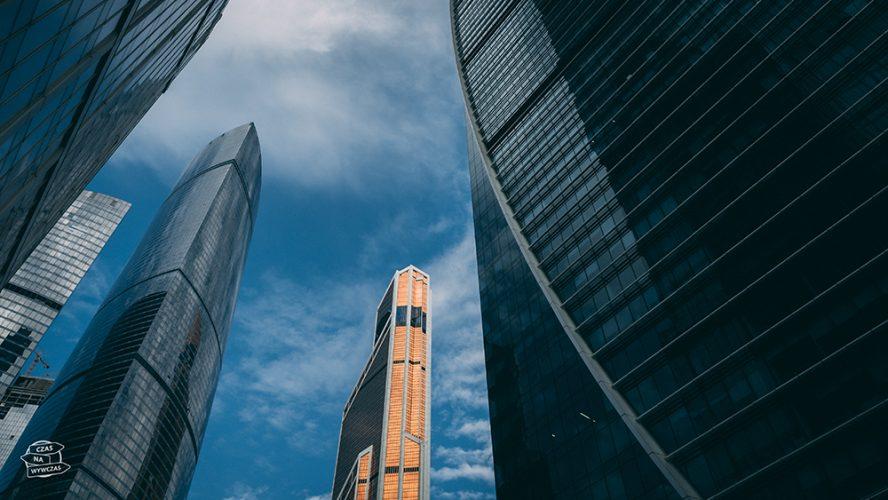 Centrum biznesu w Moskwie wieżowce