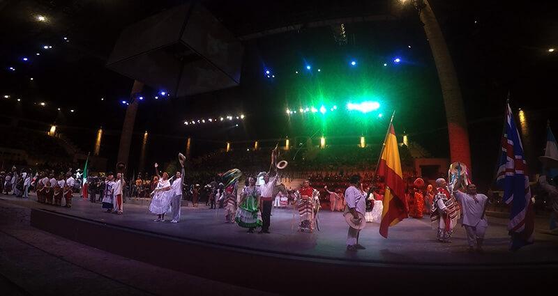 Spektakl o historii Meksyku Xcaret