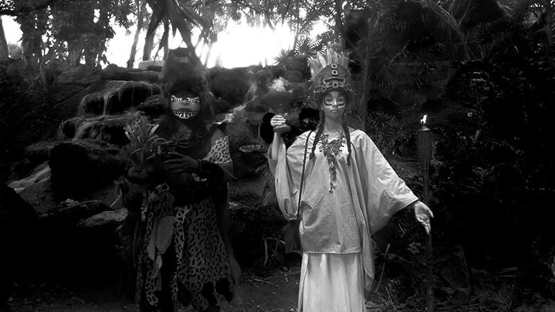 nocne show o historii Meksyku - Xcaret