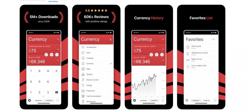 aplikacja do liczenia waluty i innych miar