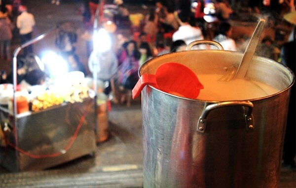 Sojowe, ciepłe mleko - Da Lat - Wietnam