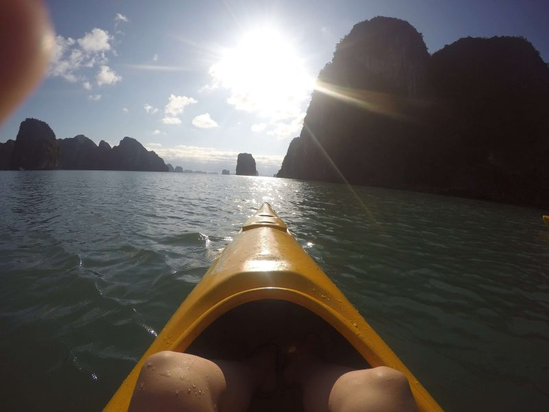Kajaki na zatoce Ha Long