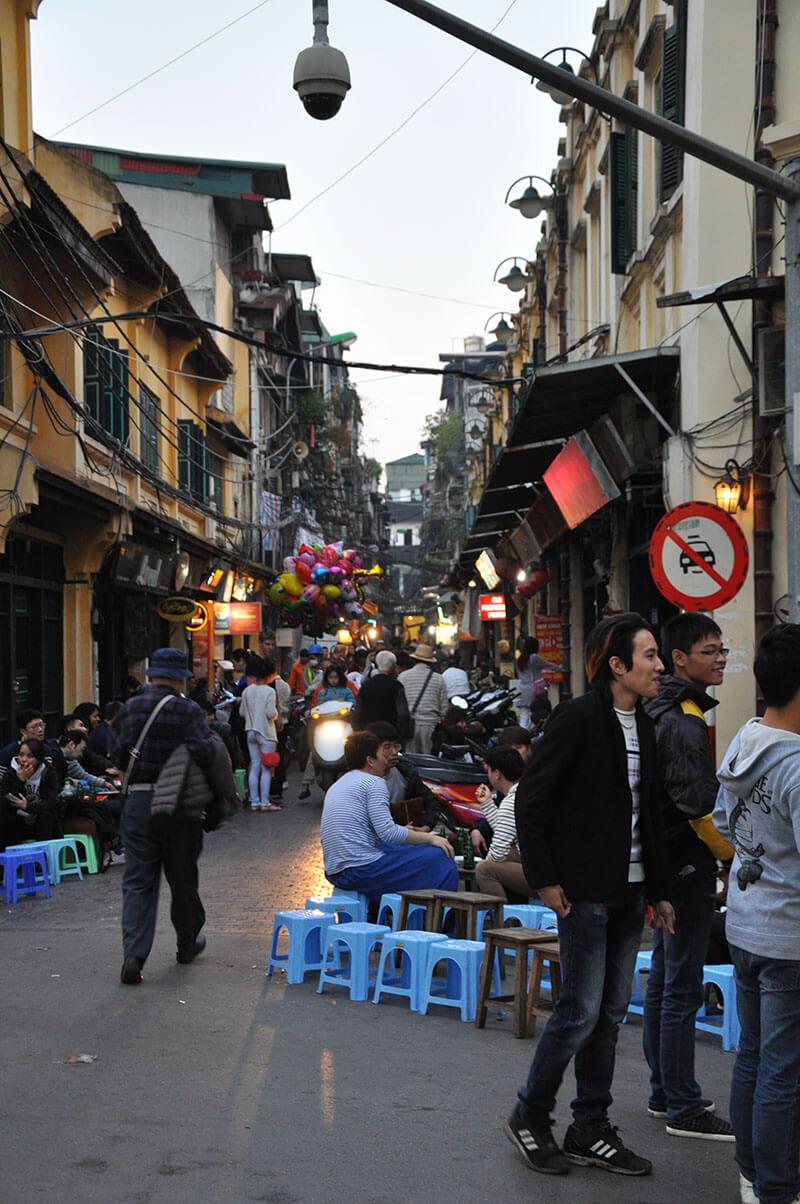 Ulice Hanoi Wietnam