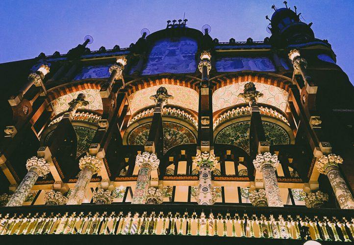 Pałac muzyki katalońskiej w Barcelonie